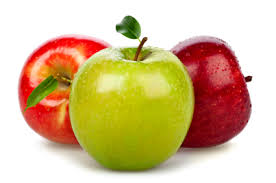 green and red apples. photo green and red apples e