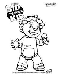 Small Picture Sid the science kid coloring pages to download and print for free