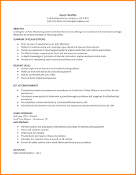 Mechanic Resume 100 Automotive Mechanic Resume Letter Of Apeal 59