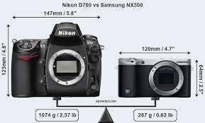 Nikon D700 vs Samsung NX500 Comparison ...