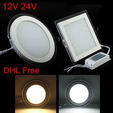 12v Recessed Led Lights Us 59 66 20 Off 10pcs Lot Free Shipping Ac Dc 12v 24v Glass Led Panel 6w 9w 12w 18w 24w Led Lighting Recessed Led Panel Light With Led Driver In