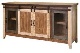 madeline antique style multicolor rustic sliding barn door tv stand console 70