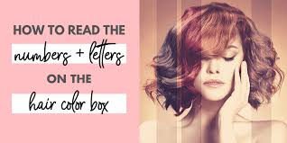 read hair color numbers and letters