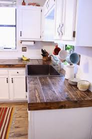 ... Brown Rectangle Classic Wooden Ideas For Kitchen Countertops Varnished  Design For Cheap Diy Countertop ...