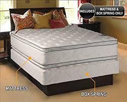 king pillow top mattress. Princess Dream Plush Pillow Top King Size Mattress And Box Spring Set C