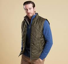 Barbour Finn Quilted Gilet-Navy and Olive &  Adamdwight.com