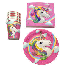 <b>60pcs</b>/<b>lot</b> Unicorn Theme <b>Party Decoration</b> Paper Napkins Baby ...