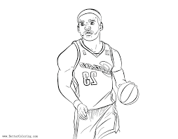 lebron james coloring pages free coloring pages line art printable for kids and s lebron james