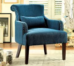 Blue Pattern Accent Chair Custom Blue Fabric Accent Chair Caravana Furniture Ca48f Bl Patterned