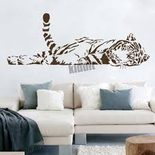 tiger wall decals tiger wild animals vinyl decal wall sticker wall tattoo wall with