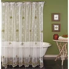 pine bough lace shower curtain