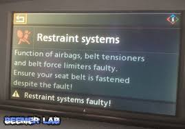 beemer lab formerly planet 5 idrive safety systems disabled this is an issue i have begun to encounter when working on my e60 530d particularly when disturbing wiring inside the car and refitting trim