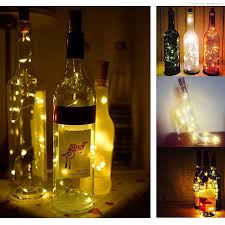3 Pack Of Wine Bottle Cork Lights Copper Led Light Strips 20 Microled Wire Starry Rope Lamp Kit Diy Battery Operated For Christmas Etc