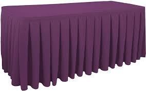 box pleated table skirts