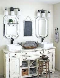 shabby chic bathroom bathroom. Shabby Chic Bathroom Vintage And Vanities Cream Colored Vanity With A Worn