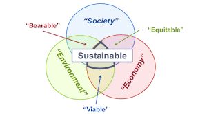 Triple Venn Diagram A Triple Bottom Line Venn Diagram Based On The Idea Of Elkington