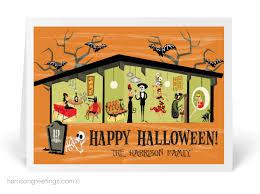 Buisness Greeting Cards Halloween Business Greeting Cards Mid Century Modern Halloween Card