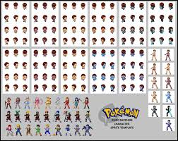 Pixel Character Template Pokemon Rs Character Template By Tanij Deviantart Com On