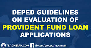 Teachers Fund Loan Chart 2019 Deped Guidelines On Evaluation Of Provident Fund Loan