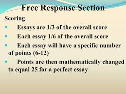 response section test structure response essay response section scoring essays are 1 3 of the overall score