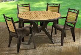 natural plastic patio furniture set