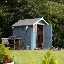 billyoh 8 x 6 19mm log cabin heavy duty garden shed