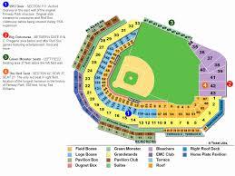 Kauffman Stadium Seating Chart Nationals Park Seating Chart