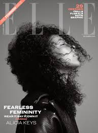 alicia keys on elle uk december 2016 cover