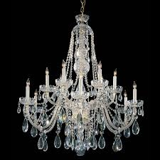 crystorama traditional crystal 12 light clear swarovski strass crystal polished brass chandelier iii 1114 pb cl s good friend electric