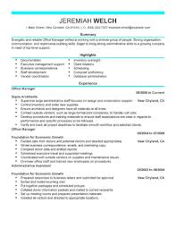 New Resume Templates Executive Template Word Free St Saneme