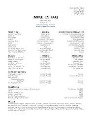 Acting Resume Templates Enchanting Actors Resume Template Word Actor Resume Template Word Download