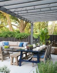 taupe teak outdoor sofa and chairs