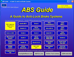 Antilock Brake Guide Diagnostic Training Repair Software