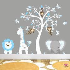 baby room wall art stickers best of jungle animal nursery wall art stickers