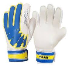 <b>Перчатки вратарские TORRES Jr</b>, размер 5, цвет бело-голубо ...