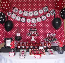 Pink And Black Minnie Mouse Decorations Minnie Mouse Birthday Party Package Red Deluxe Printable Birthday
