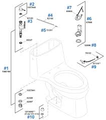 kohler toilet replacement parts for the santa rosa series one piece model k 3323