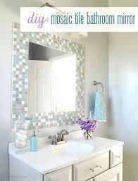 Unique Diy Bathroom Mirror Frame With Tile Decorating Ideas In