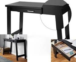 small writing table. Image Is Loading Small-Black-Computer-Desk-Writing-Table-Vanity-Console- Small Writing Table
