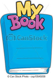ilration of a customizable book name plate clipart vector
