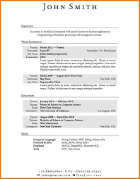 First Resume