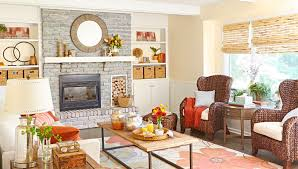 decorating ideas for family room. family room with whitewashed fireplace. decorating ideas for