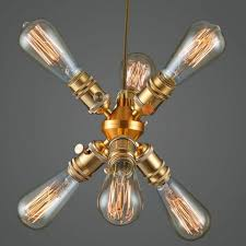 Modern Deckenlampe Kupfer Kronleuchter Wohnzimmer Lampe Einzelkopf Kronleuchter