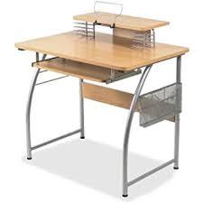 office desk shelf. Lorell Upper Shelf Laminate Computer Desk Metallic Office