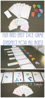 Fun and Easy Dice Game with Printable • Keeping it Simple