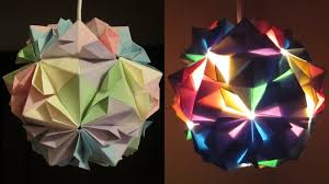 paper lighting. diy lamp flower ball learn how to make a paper lampshadelantern by modular origami ezycraft youtube lighting