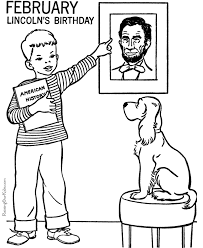 Small Picture February Coloring Page