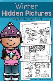 Find It! Winter Hidden Picture Worksheets - Mamas Learning Corner