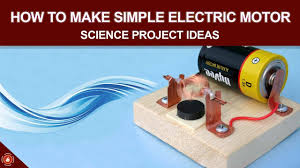 How to Make Simple Electric Motor Science Project Ideas YouTube