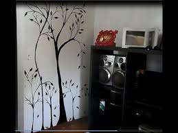 diy how to make a wall mural painting home decoration